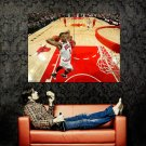 Derrick Rose Two Handed Dunk NBA Basketball Huge 47x35 Print POSTER