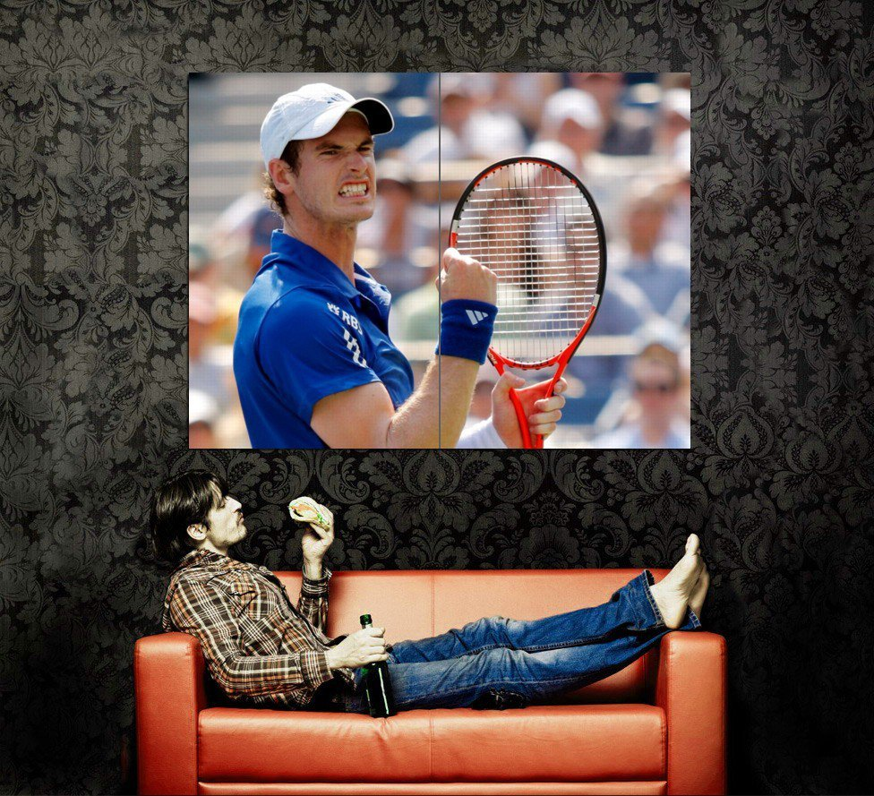 Andy Murray Tennis ATP Sport Huge 47x35 Print POSTER