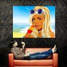 Hed Kandi Hot Girl Ice Cream Beach Art Music Huge 47x35 Print POSTER