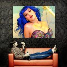 Katy Perry Hot Blue Hair Music Huge 47x35 Print POSTER
