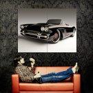 Chevrolet Corvette C1 RS 1962 Black Car Huge 47x35 Print POSTER