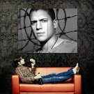 Wentworth Miller Barbed Wire BW Prison Break Huge 47x35 Print POSTER