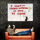 It Would Be Illegal Banksy Graffiti Street Art Huge 47x35 Print POSTER
