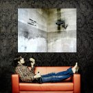What Are You Looking At Banksy Graffiti Street Art Huge 47x35 Print POSTER