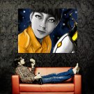Portal Girl Portrait Video Game Art Huge 47x35 Print POSTER