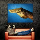 Body Art Crocodile Hand Cool Huge 47x35 Print POSTER