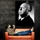 Alfred Hitchcock Great Director BW Portrait Huge 47x35 Print POSTER