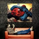 Red Hulk Vs A Bomb Marvel Comics Art Huge 47x35 Print POSTER