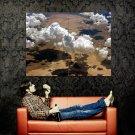 Clouds Desert Nature Landscape Huge 47x35 Print POSTER