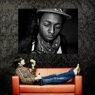 Lil Wayne Eyes Closed BW Portrait Hip Hop Music Huge 47x35 Print POSTER