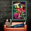 Les Claypool Mushroom Men Art Rock Music Huge 47x35 Print POSTER