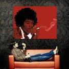 Jimi Hendrix Smoking Art Rock Music Huge 47x35 Print POSTER