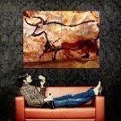 Cave Paintings Lascaux Ancient Bull Taurus Art Huge 47x35 Print POSTER