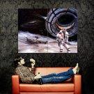 Retro Futurism Space Traveller Art Huge 47x35 Print POSTER