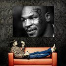 Mike Tyson Portrait BW Tattoo Boxing Sport Huge 47x35 Print POSTER