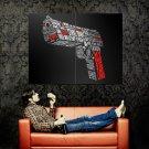 Pulp Fiction Pistol Ezekiel Quotes Art Huge 47x35 Print Poster