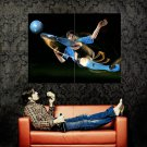 Lionel Messi Volley Shot Soccer Football Sport Huge 47x35 Print POSTER