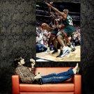 Michael Jordan Double Team Chicago Bulls NBA Basketball Huge 47x35 POSTER