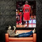 Michael Jordan 45 Jersey Rare Chicago Bulls NBA Basketball Huge 47x35 POSTER