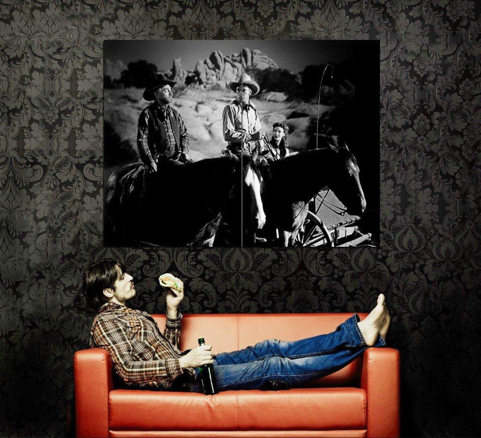 Gary Cooper Western Movie Legendary Actor BW Huge 47x35 POSTER