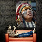 Apache Portrait Native American Indians Huge 47x35 POSTER