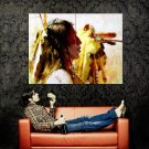 Native Americans Painting Art Indians Huge 47x35 POSTER