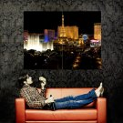 Las Vegas Night Fountain Lights Around The World Huge 47x35 POSTER