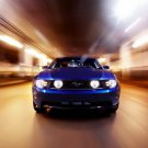 Blue Ford Mustang Front Muscle Car Speed Huge 47x35 Print Poster