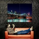 Brooklyn Bridge Night Light New York City Huge 47x35 POSTER