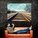 Nature Distance Railway Sky Clouds Anime Art Huge 47x35 POSTER