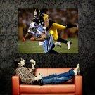 Troy Polamalu Tackle Pittsburgh Steelers NFL Football Sport Huge 47x35 POSTER