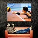 Asian Babe Dive Volleyball Women Sport Huge 47x35 Print POSTER