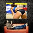 Sexy Butt Hot Beach Volleyball Sport Huge 47x35 Print POSTER