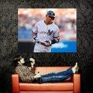 Alex Rodriguez Running Baseball MLB Huge 47x35 Print POSTER