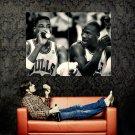 Scottie Pippen Michael Jordan Rare Huge 47x35 Print POSTER