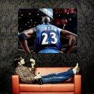 Michael Jordan 23 Wizards NBA Rare Huge 47x35 Print POSTER