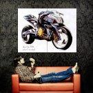 Aprilia FV2 Concept Art Bike Motorcycle Huge 47x35 Print POSTER