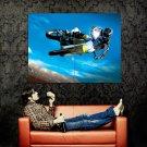 Suzuki Jump Motocross Bike Motorcycle Huge 47x35 Print POSTER