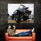 Black Giant Monster Truck Bigfoot Car Huge 47x35 Print POSTER