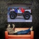 Chevy Monster Truck Bigfoot Car Huge 47x35 Print POSTER