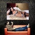 Hot Brunette Girl Sexy Lingerie Stocking Huge 47x35 Print POSTER