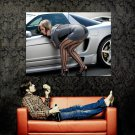Hot Girl Sexy Stocking Street Car Huge 47x35 Print POSTER