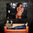 Busty Brunette Babe Hot Bikini Huge 47x35 Print POSTER
