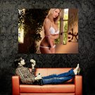 Busty Blonde Girl Sexy Lingerie Huge 47x35 Print POSTER
