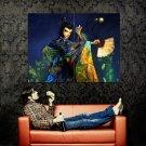 Asian Traditional Dress Girl Fan Art Huge 47x35 Print POSTER