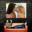 Hot Girls Sexy Kissing Topless Lesbian Huge 47x35 Print POSTER
