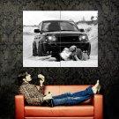Hot Babes Car Range Rover BW Lesbian Huge 47x35 Print POSTER