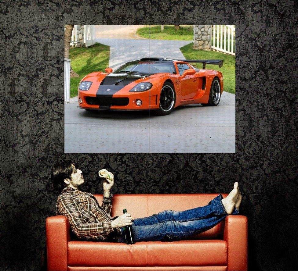 Factory Five Racing GTM Orange Supercar Huge 47x35 Print POSTER