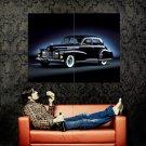 Cadillac Black Vintage Retro Car Huge 47x35 Print POSTER