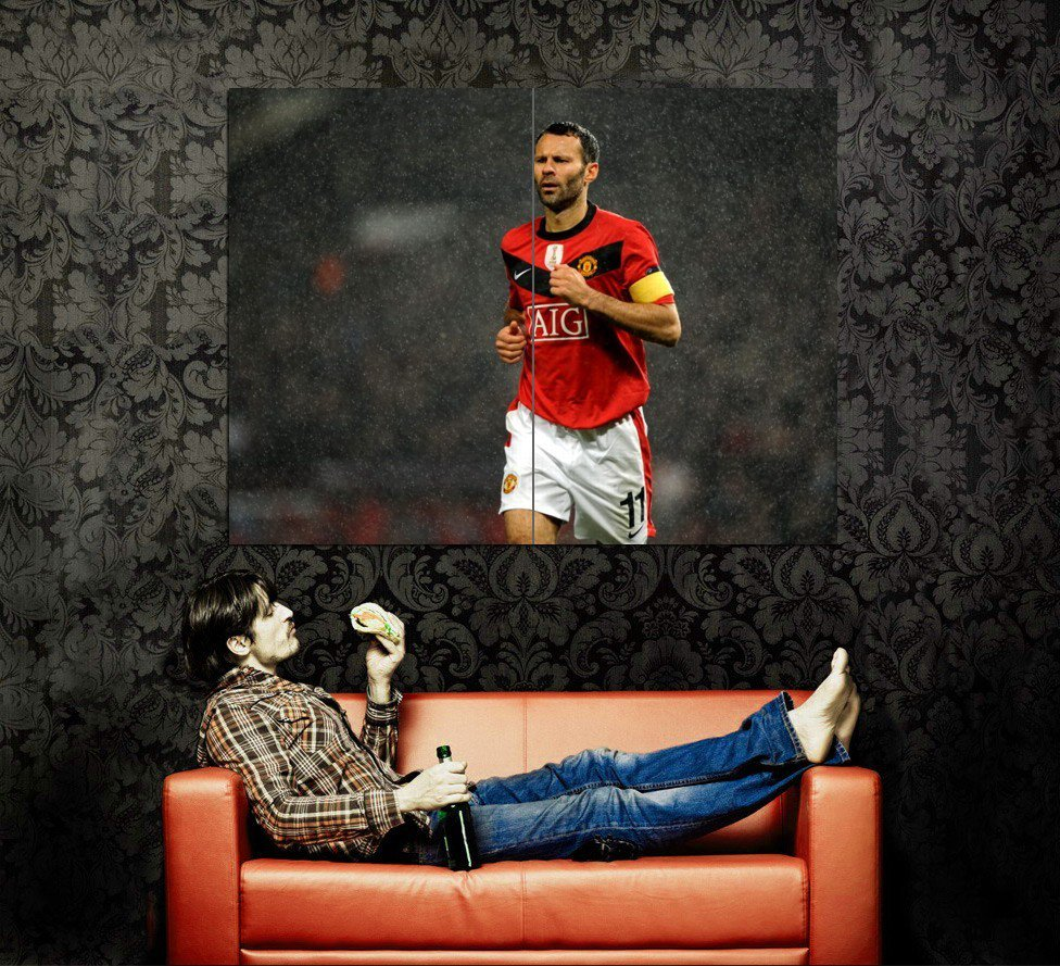 Ryan Giggs Manchester United Football Huge 47x35 Print POSTER